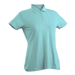 Nancy Lopez Grace Aqua Short Sleeve Polo