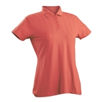 Nancy Lopez Grace Tangerine Short Sleeve Polo
