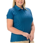 Nancy Lopez Grace Indigo Short Sleeve Polo
