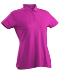 Nancy Lopez Grace Hot Pink Short Sleeve Polo