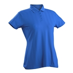Nancy Lopez Grace Blue Bird Short Sleeve Polo