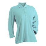 Nancy Lopez Grace Aqua 3/4 Sleeve Polo