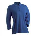 Nancy Lopez Grace Indigo 3/4 Sleeve Polo