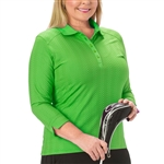 Nancy Lopez Grace Palm 3/4 Sleeve Polo