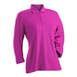Nancy Lopez Grace Hot Pink 3/4 Sleeve Polo