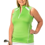 Nancy Lopez Sporty Palm Sleeveless Polo