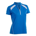 Nancy Lopez Sporty Blue Bird Short Sleeve Polo