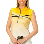Nancy Lopez Maxi Amber Sleeveless Golf Polo