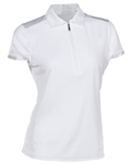 Nancy Lopez Wicked White Short Sleeve Polo