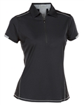 Nancy Lopez Wicked Black Short Sleeve Polo