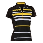 Nancy Lopez Shock Black/Amber Sleeve Polo