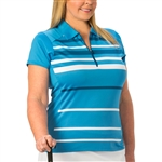 Nancy Lopez Shock Blue Bird Short Sleeve Polo