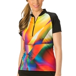 Nancy Lopez Prism Black Short Sleeve Polo