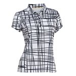 Nancy Lopez Scribble Black Short Sleeve Polo