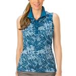 Nancy Lopez Palmy Sleeveless Convertible Mock - Indigo