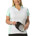 Nancy Lopez Bee Short Sleeve Polo - Aqua