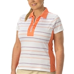 Nancy Lopez Crystal Short Sleeve Polo - Tangarine