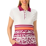Nancy Lopez Pretty Short Sleeve Polo - Magenta