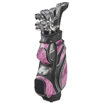 Nancy Lopez Zenith Black/Pink Golf Clubs & Bag