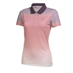 Puma Women's Chevron Faded Polo- Italian Plum