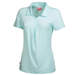 Puma Women's Pleat Golf Polo Shirt- Clearwater Heather