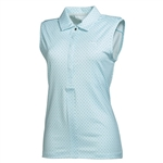Puma Women's  Dot Sleeveless Polo- Clearwater