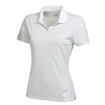 Puma Women's Mesh Stripe Polo Golf Shirt- White