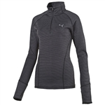 Puma Women's Heathered 1/4 Zip Popover- Black