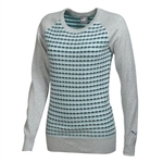 Puma Women's Color Block Sweater- Light Gray Heather