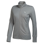 Puma Women's PWR Warm Golf Jacket- Light Gray Heather