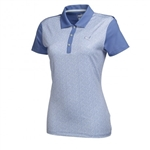 Puma Women's Tile Print Polo - Bleached Denim