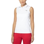 Puma Pounce Sleeveless Golf Polo - Bright White
