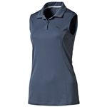 Puma Pounce Sleeveless Golf Polo - Bering Sea