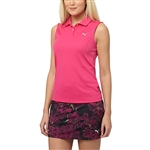 Puma Pounce Sleeveless Golf Polo - Beetroot