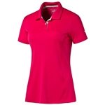 Puma Pounce Short Sleeve Golf Polo - Rose Red