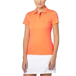 Puma Pounce Short Sleeve Golf Polo - Fluro Peach