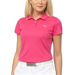 Puma Pounce Short Sleeve Golf Polo- Beetroot