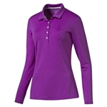 Puma Long Sleeve Golf Polo - Purple Cactus Flower