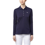 Puma Long Sleeve Golf Polo - Peacoat