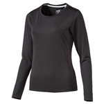 Puma Long Sleeve Crew Golf Top - Black