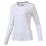 Puma Long Sleeve Crew Golf Top - Bright White