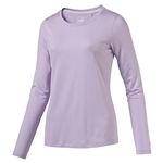 Puma Long Sleeve Crew Golf Top - Orchid Bloom