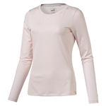 Puma Long Sleeve Crew Golf Top - PInk Dogwood
