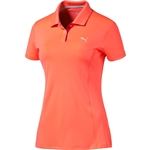 Puma Space Dye Golf Polo - Fluro Peach