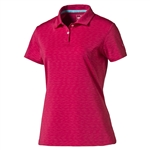 Puma Space Dye Golf Polo - Rose Red