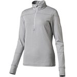 Puma Solid 1/4 Zip Long Sleeve Popover - Light Gray Heather