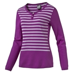 Puma Scoopneck Golf Sweater - Purple Cactus Flower