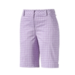 Puma Plaid Golf Bermuda Shorts - Orchid Bloom