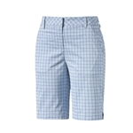 Puma Plaid Golf Bermuda Shorts - Cool Blue