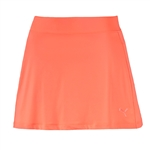 Puma Solid Knit Skirt - Fluro Peach